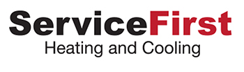 Service First Heating And Cooling Logo